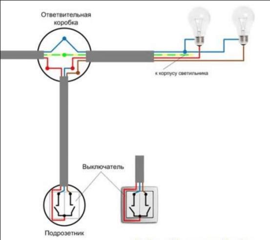 Схемы электроподключения