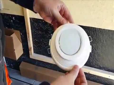 Монтаж светильника на закладной площадке