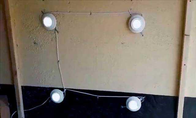 Монтаж точечных светильников завершен