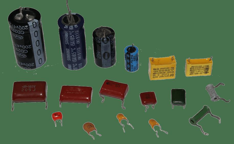 Конденсаторы различных модификаций и мощностей
