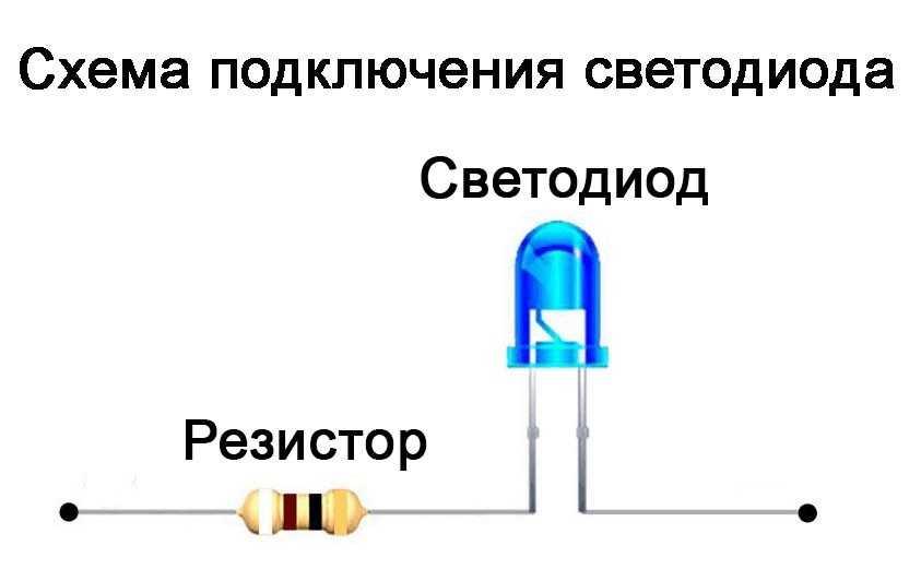 Как подключить сопротивление к светодиоду