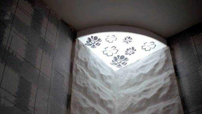 Угловой потолочный светильник