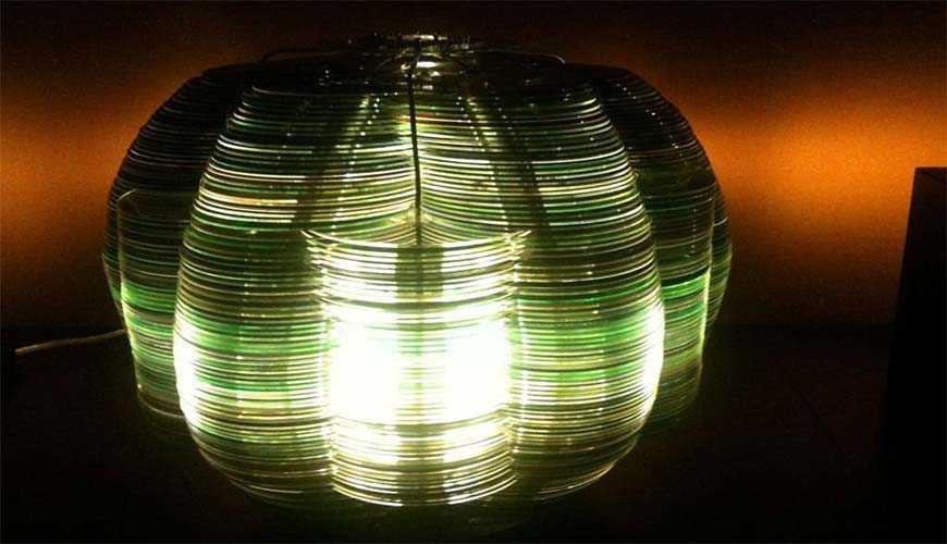 Люстра из лазерных дисков