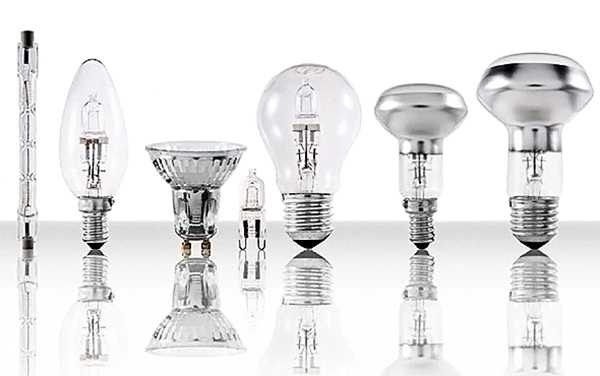 Модели галогенных лампочек