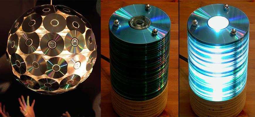 Люстры из лазерных дисков