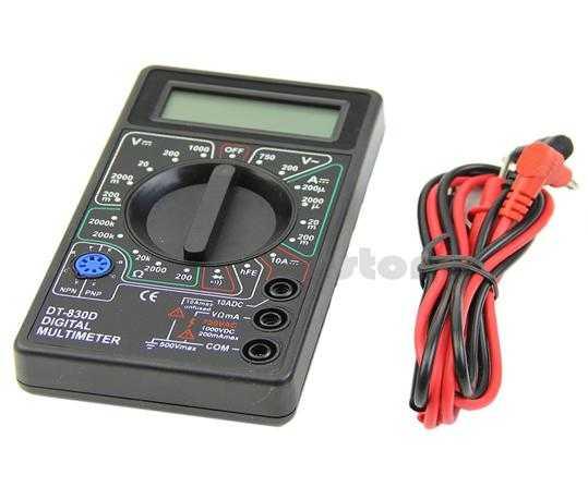 Мультиметр для замера силы тока и напряжения светодиода