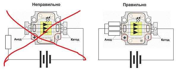 Схема включений диодов(цоколевка выводов)
