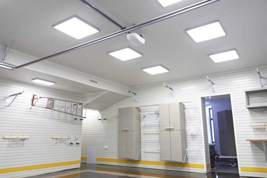 Освещение гаража светодиодами