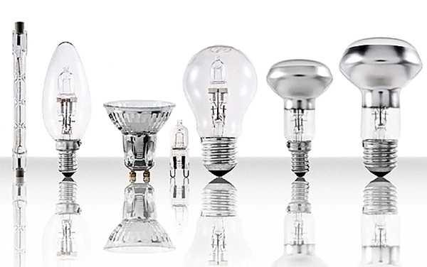 Типы галогеновых ламп