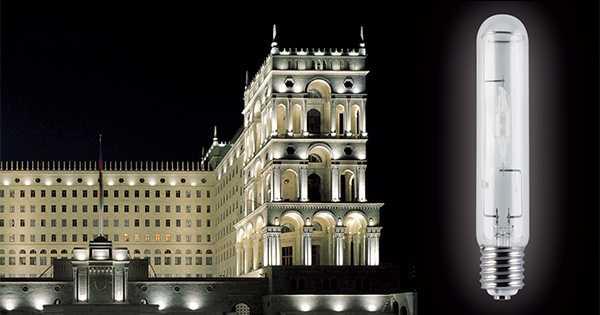 Освещение архитектурного здания