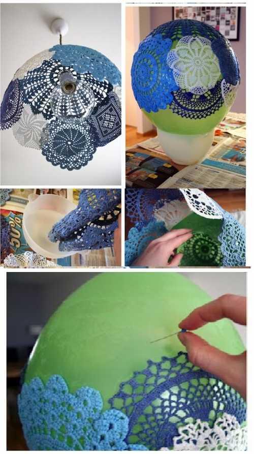 Красиво украшенная люстра из воздушного шара