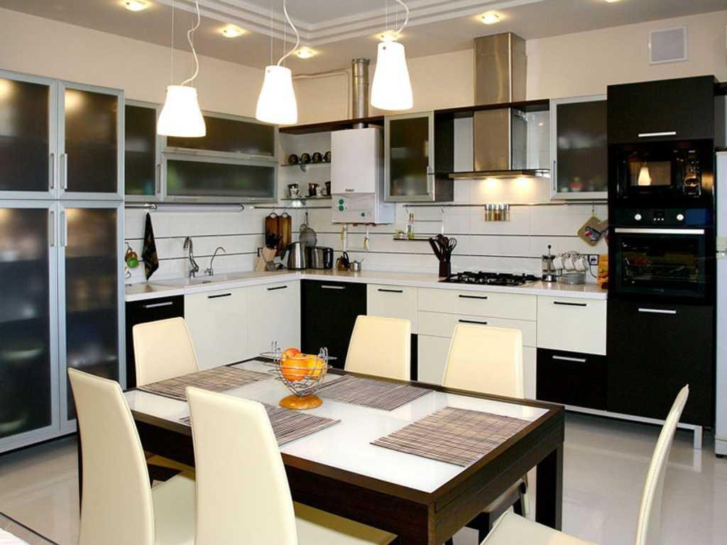 Декоративное освещение в маленькой кухне