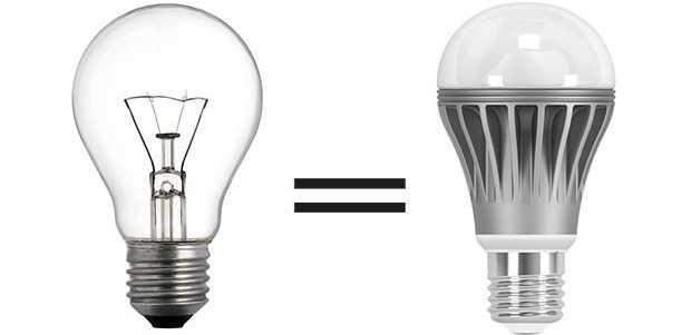 Сравниваем лампу накаливания и светодиод по силе светового потока