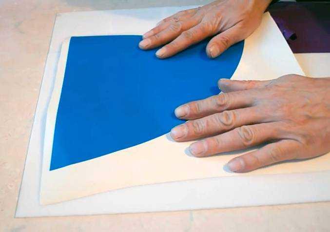 Шаблон готов к нанесению на лист стекла