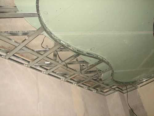 Конструкция каркаса второго уровня подвесного потолка