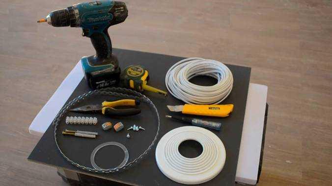 Инструменты и принадлежности для инсталляции точечных осветителей