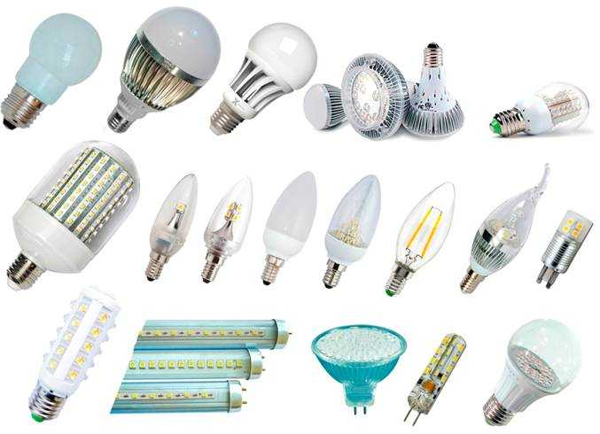 Разнообразные светодиодные лампы