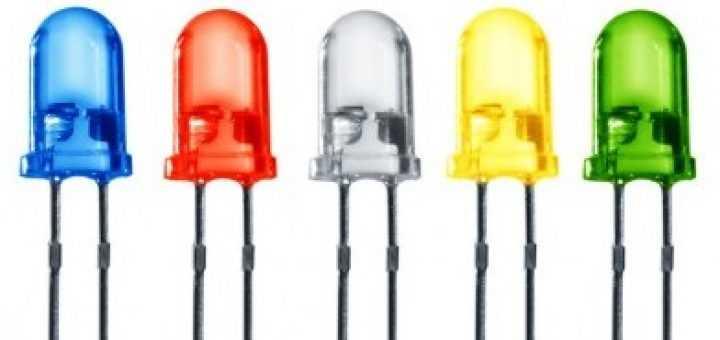Так выглядят индикаторные диоды разных цветов