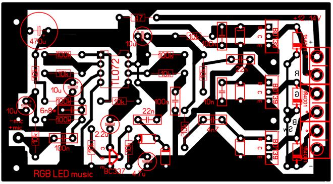 Пример макетного образца печатной платы