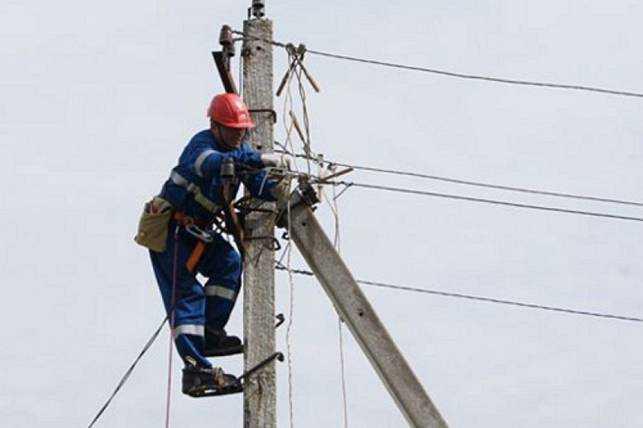 Отсутствие контакта на опоре линий электропередач
