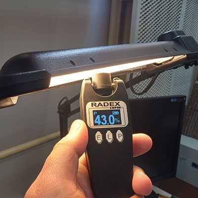 Использование пульсметра для определения мерцания лампочки