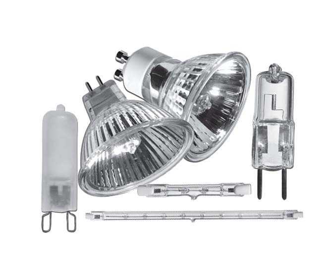 Различные варианты галогенных ламп