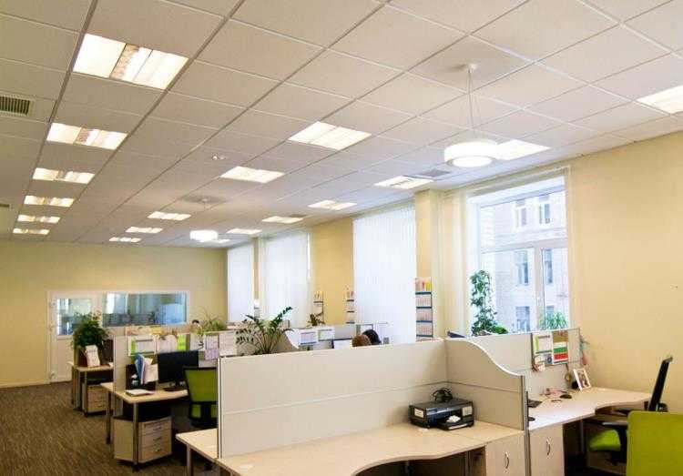 Офис, наполненный искусственным и природным светом