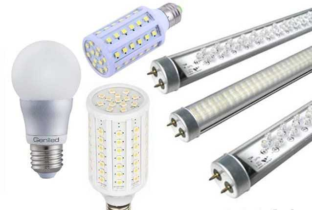 Различные варианты светодиодных ламп