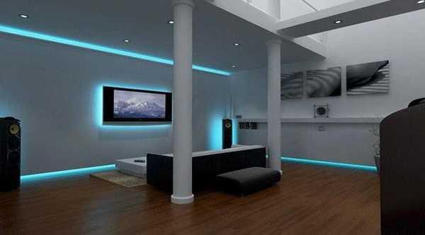 Прекрасное использование светодиодной ленты в интерьере