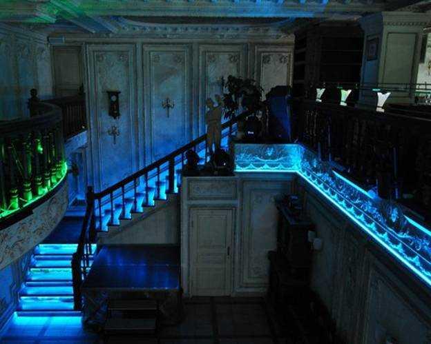Применение светодиодной ленты в интерьере лестницы