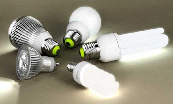 Различные лампы – светодиодные и КЛЛ