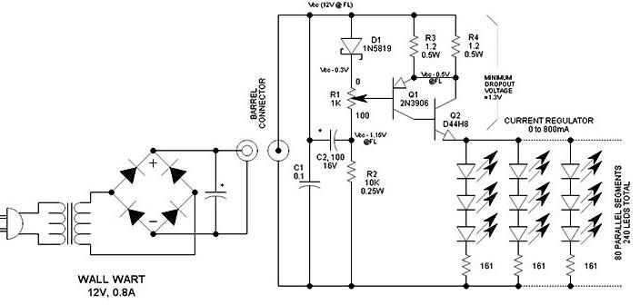 Схема диммера для светодиодной лампы
