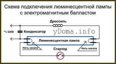 Схема подключения ЛДС