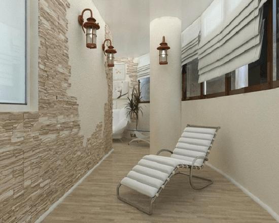 Применение на закрытом балконе настенных светильников