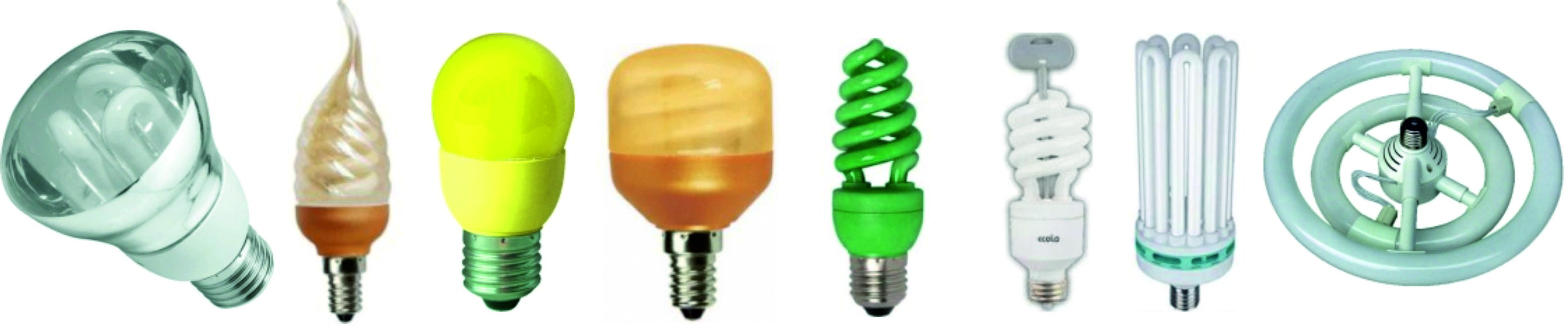 Многообразие люминесцентных ламп