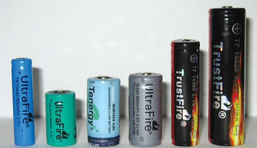 Виды сменных аккумуляторов для ручных фонарей