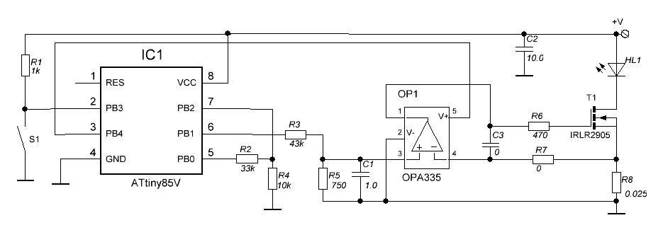 Схема налобного светодиодного фонаря
