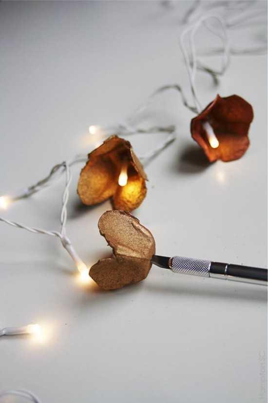 Бумажные тюльпаны для светодиодной гирлянды