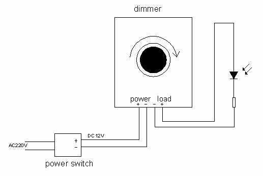 Подключение поворотного диммера к светодиодам