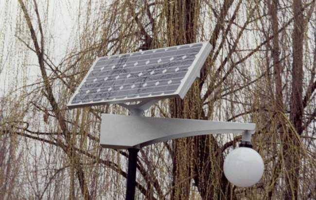Светильник работающий от солнечной батареи