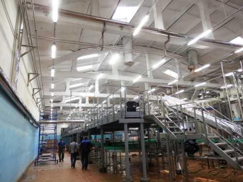 Правильное освещение производственного цеха
