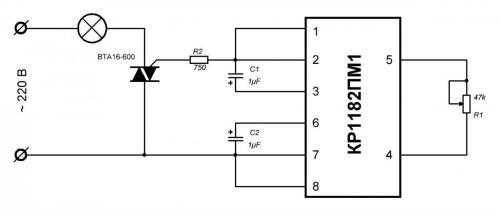 УПВЛ с использованием микросхемы КР1182ПМ1