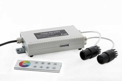 Двухканальный RBG модуль для оптоволоконной подсветки с пультом дистанционного управления