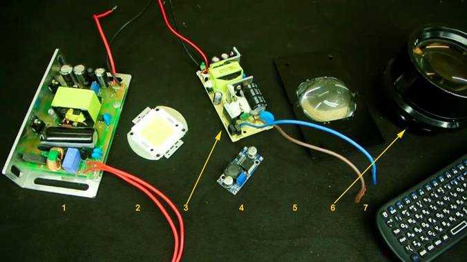 Детали, необходимые для изготовления качественного проектора