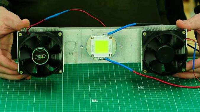 Светодиод смонтированный на радиаторе