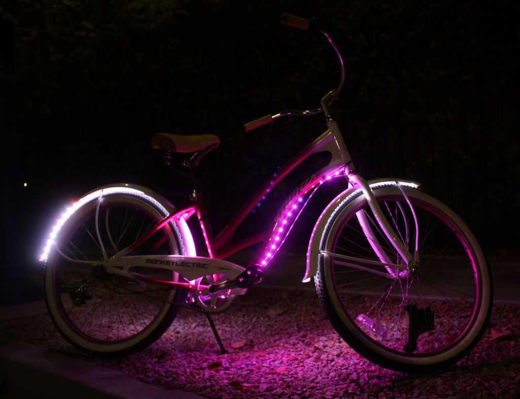 Подсветка рамы и крыльев светодиодной лентой