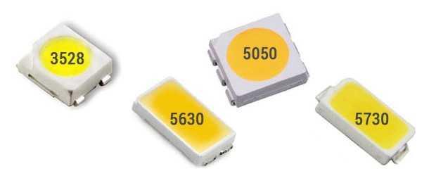 Основные размеры популярных светодиодов