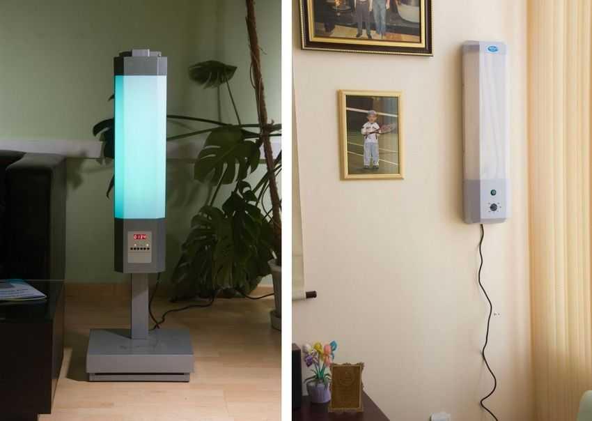 Варианты ламп для кварцевания дома – напольная и настенная (стационарная)