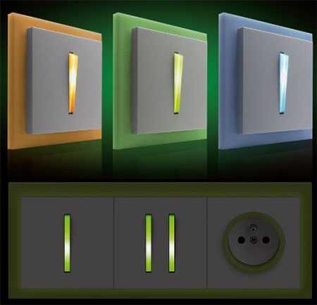 Пример дизайнерского оформления одно- и двухкнопочного выключателя