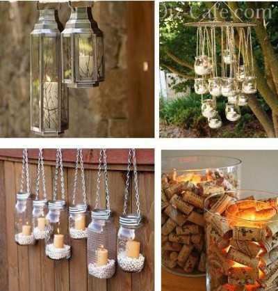 Примеры светильников, сделанных из стеклянных банок